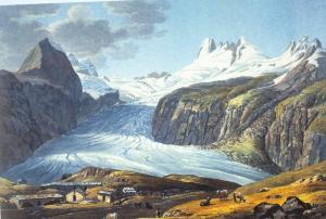 Ghiacciao di Pré de Bard nel 1826