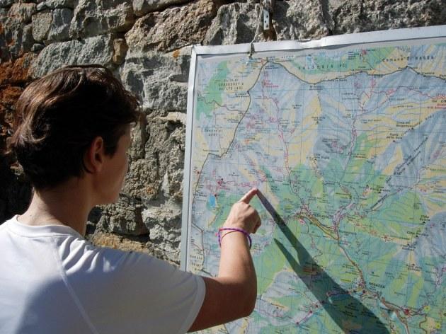 Estratto di cartina_sul muro del Rifugio della Vecchia
