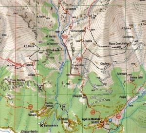 Carta n. 14, scala 1:25.000 Valli dell'Orco e Gran Paradiso edita da ESCURSIONISTA & MONTI editori