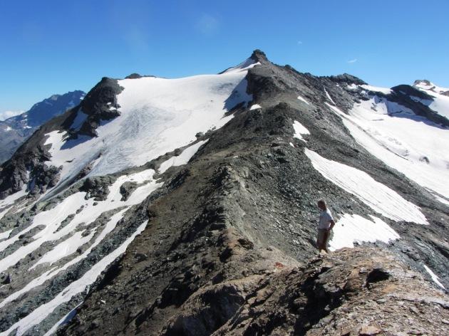 La cresta tra la Cima di Nivoletta e la Basei