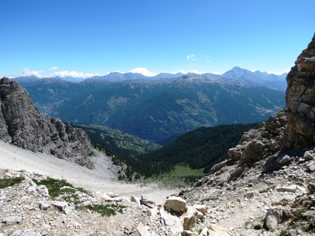 Panorama verso la Valle Susa e Chisone dal colle