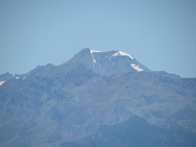 La Ciamarella vista dalla collina torinese il 15 luglio 2012