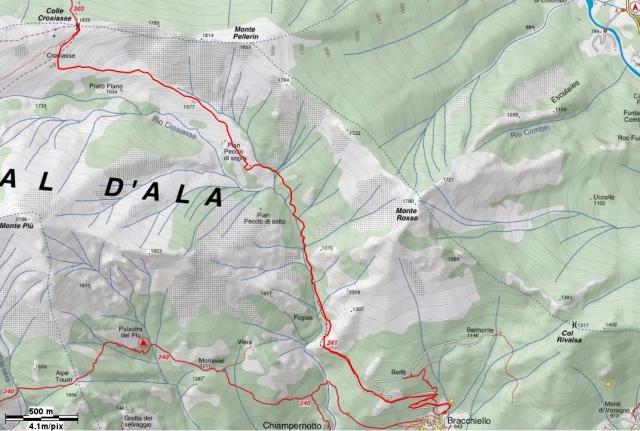 Sentiero 241 Val d'Ala