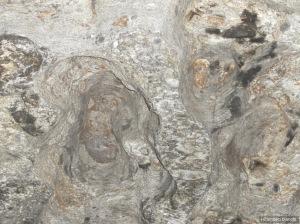 Particolare del soffitto del Roc d'le masche