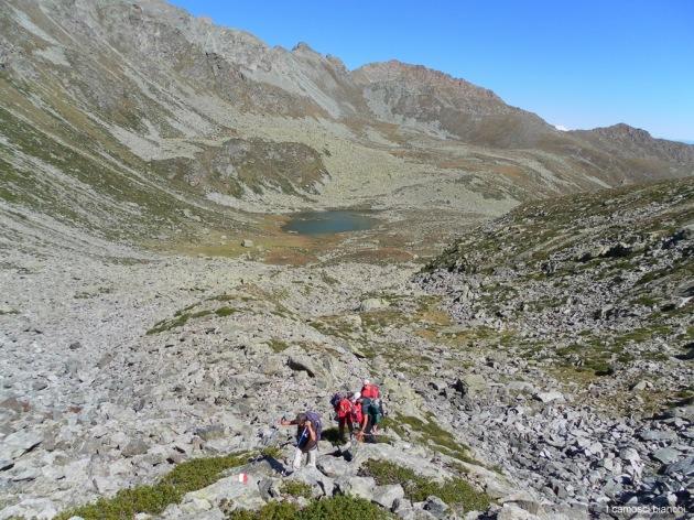 Ultimo strappo prima di raggiungere il Colletto della Balma (2436 m)