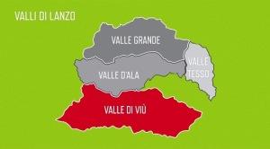 Cartina estrapolata dal Video Valli di Lanzo
