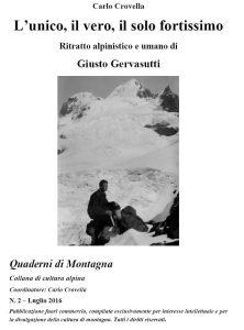 Copertina PDF su Gervasutti di Carlo Crovella